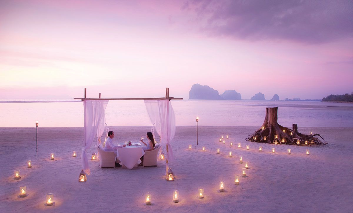 Dîner sur la plage à l'Anantara Si Kao Resort & Spa